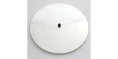 "Spin-on Disc 6"", aluminum, 1/4"" bolt"