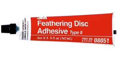 Feathering disc adhesive, 3M